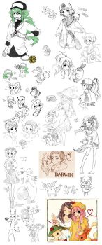 Pokemon Sketch Dump by cartoongirl7