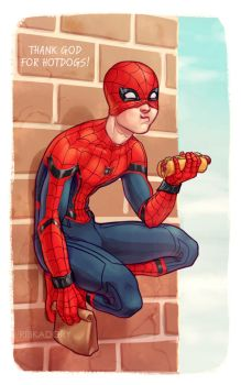 Nomming Spidey by ribkaDory