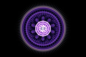 Fractal mandala of Third Eye Chakra by Xenodreaming