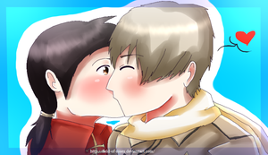 APH: Kiss ::GIFT:: by Field-Of-Roses