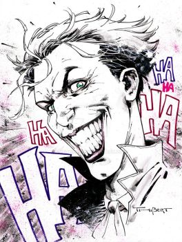 Love that Joker pre Con doodle- Indiana Comic Con by aethibert