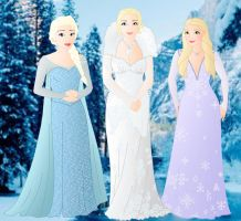 Once upon a time: Ingrid, Elsa and Emma by Willemijn1991