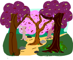 MLP Cherry Orchard BG FREE TO USE by JohnnyDeppsGirl4life