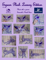 Espeon Luxury Plush FOR SALE by WolfPink