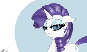 Rarity Portrait by Falco9998