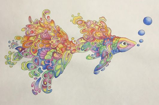 Colored Fish Doodle by SapGreen