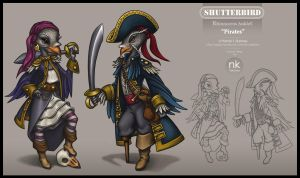 Pirates Character Design by Nekranea
