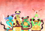 TMNT wish a happy new chinese Year of Monkey by ArianeTatsu