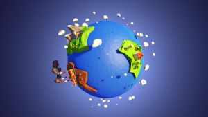 Planet lowpoly by pakszotownia