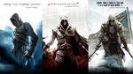 Assassins Creed: Altair, Ezio and Connor by okiir