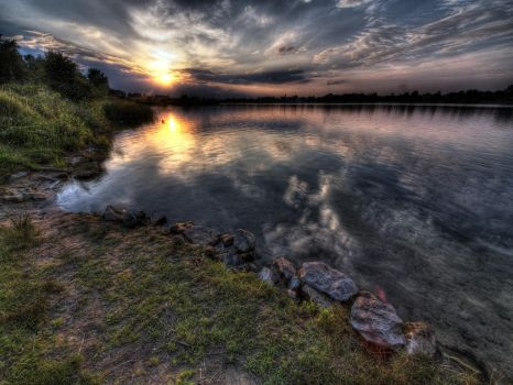 Bagry lake in Cracow by kubica