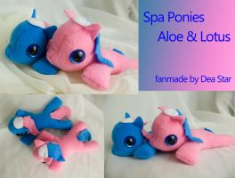 Plush Spa Ponies by bluepaws21