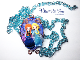 Polymer Clay -Elsa and Anna(Frozen) by Crystarbor