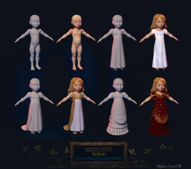 Dans l'Ombre: Thais modelling and texturing by Le-Garaehld