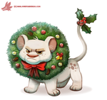 Daily Paint #1125. Wreath Lion by Cryptid-Creations