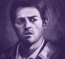 Castiel - Face Study by Eliket