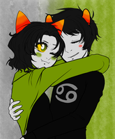 Karkat X Nepeta .:COLORED:. by shayminlover492