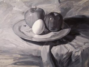 Still Life underpainting WIP by MyOwnInvention