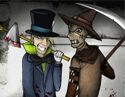 Mad Hatter and Scarecrow by Corycat