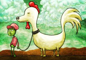Chicken Dog by avid