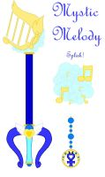 Sailor Mercury Keyblade by MidnightHotaru