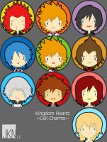 Kingdom Hearts Charms by VeloursRose