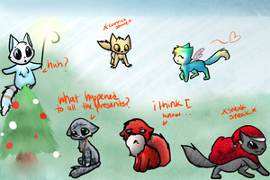 Rise of the Guardians Kitties by Kitzophrenic