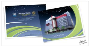 DHA Haly Tower Eid Card by Designbolts