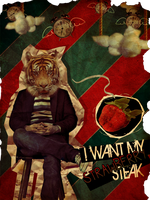 A Clock, A Cat, A Fruit Poster by Kashilicious