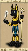 Commission - Anubis by hunterbahamut