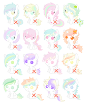 Pastell pony adopt AUCTION 2 LEFT by Yumi-Kitten