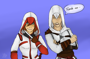 Natalia And Altair Female Me (Request) by KayleeRedfield
