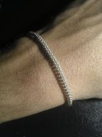 Micro Full Persian Sterling Silver Bracelet by Red-Fathom