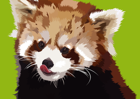 Red Panda Vector by elviraNL