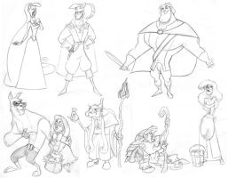 Into the Woods Sketches by borogove13