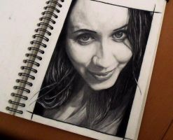 My beautiful wife pencil drawing by DirtyVermin