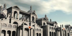 The Impereal palace on Trantor by megaduce