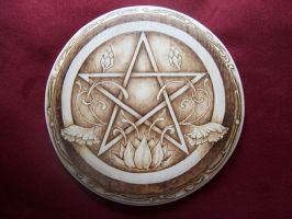 Lotus Pentacle Print by parizadhe