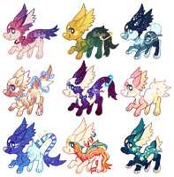 Astroflare Chibis (CLOSED) by Ponkochi