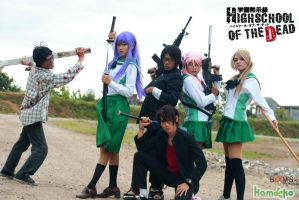cos : high school of the dead by Rupyon