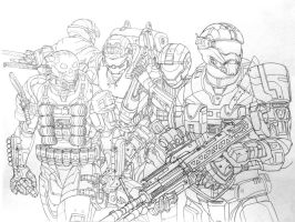 Halo Reach: Noble Team by leonalmasy