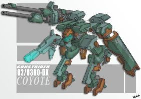 mecha design 'coyote' by yanharrison