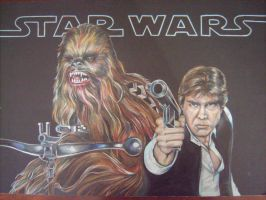 Han and Chewie by GregLakowske