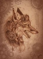 Steampunk-fox by GreenAmb