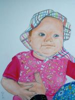 Little Miss Cutie as baby by macdieter