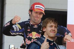 Mark Webber and Vettel fight by LidiaForza