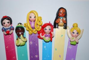 Disney Princess bookmarks by Libellulina
