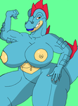 Female Pokemon Hourglass: Feraligatr by Lucedo