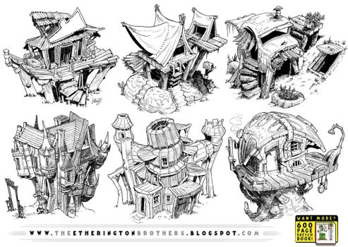 6 Creature House Concepts by STUDIOBLINKTWICE