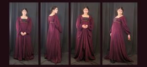 Burgundy Dress by aelthwyn